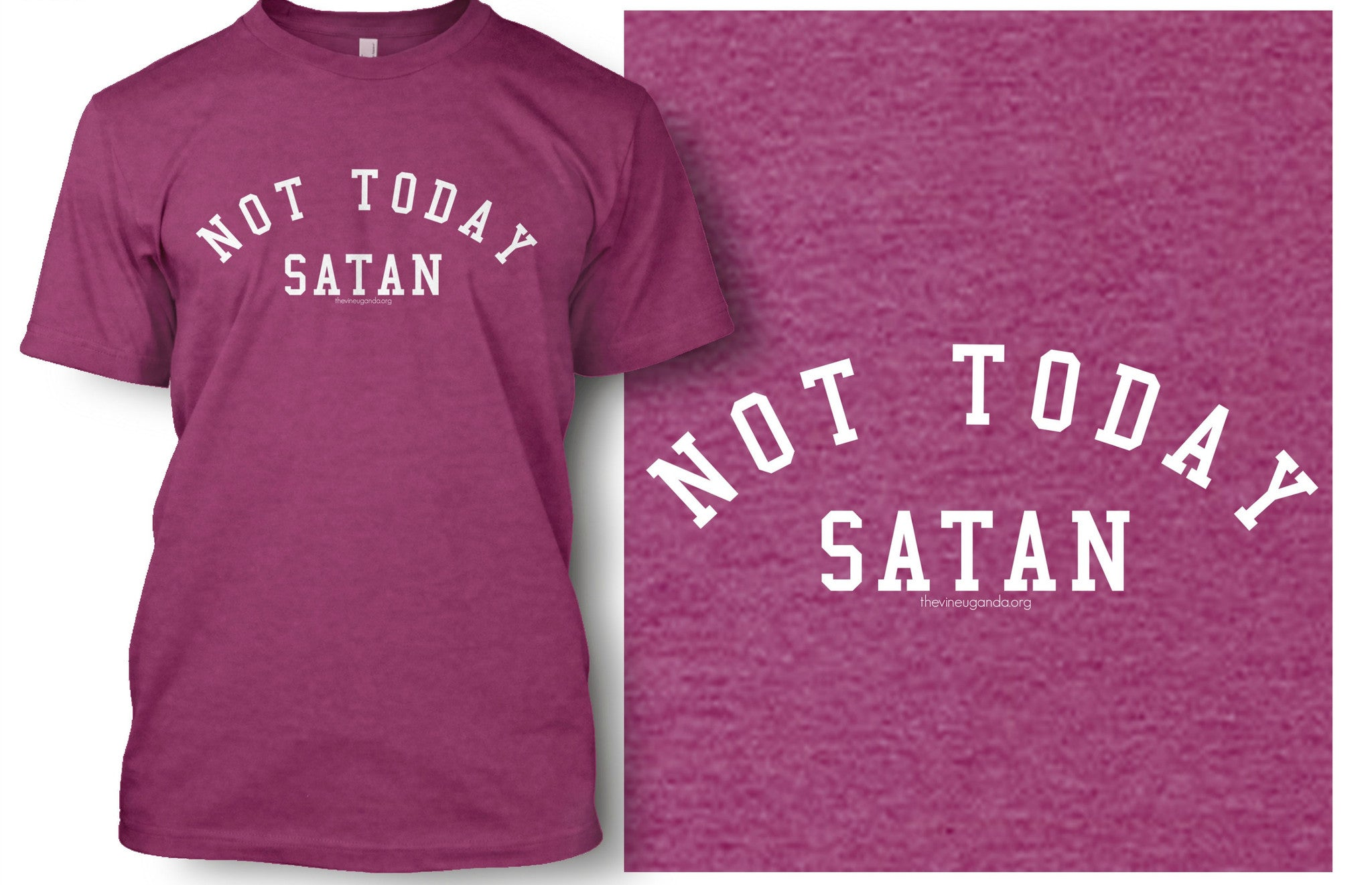 Not Today Satan Shirt (Grey & Raspberry)