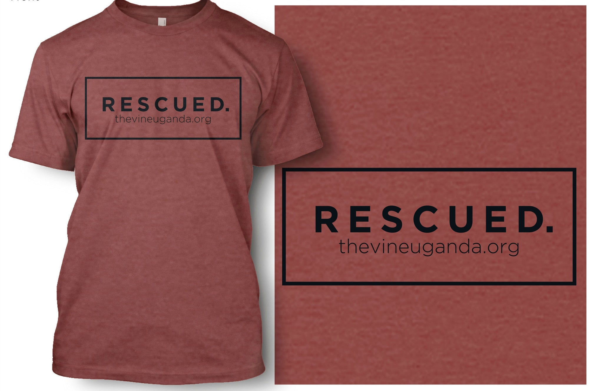 Rescued Box T-shirt (Denim Blue & Clay)