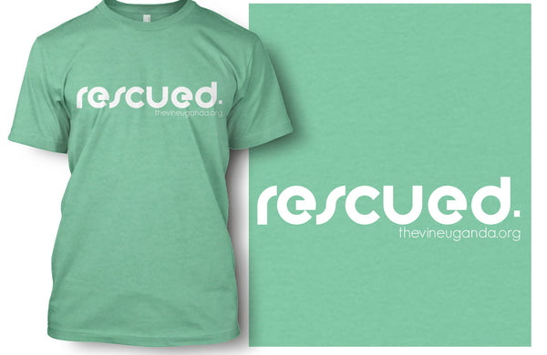 Rounded Rescued T-shirt  (Mint & Dark Grey)