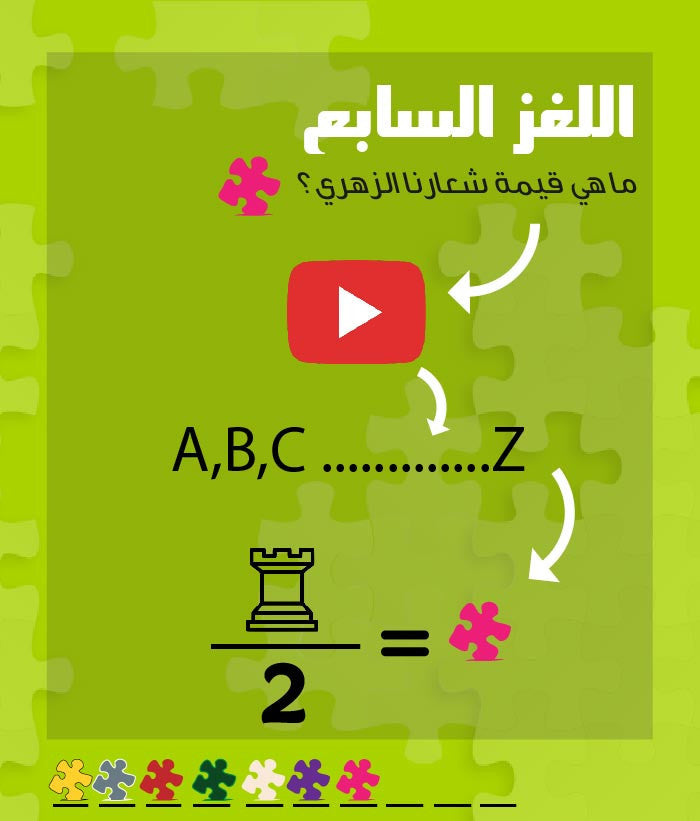اللغز السابع Puzzlers Jordan Treasure Hunt