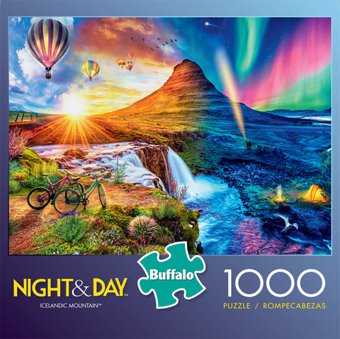 Night & Day Icelandic Mountain 1000 Piece Jigsaw Puzzle