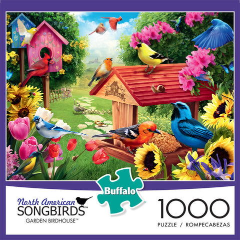 North American Songbirds Garden Birdhouse