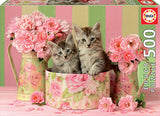 KITTENS WITH ROSES