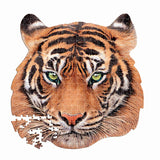 TIGER ANIMAL FACE SHAPED PUZZLE
