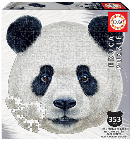 PANDA ANIMAL FACE SHAPED PUZZLE