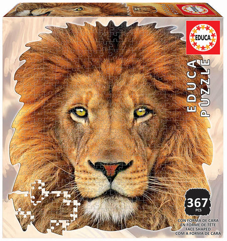 LION ANIMAL FACE SHAPED PUZZLE
