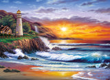 lighthouse at sunset - Puzzlers Jordan