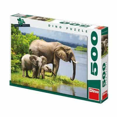 Elephants Family 500 Dino puzzle