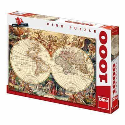 Historical World Map 1000 dino puzzle