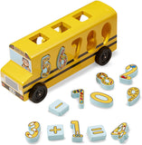 Number Matching Math Bus - Puzzlers Jordan