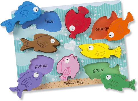Colorful Fish Wooden Chunky Puzzle - Puzzlers Jordan