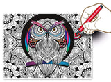 Owl - Color Therapy puzzle - Puzzlers Jordan