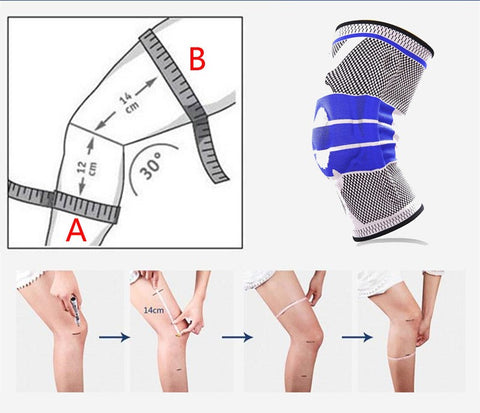 890d2319b9 NYLON SILICON KNEE SLEEVE - PERFECT PROTECTION FOR SPORTS