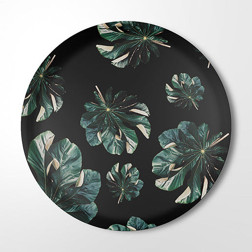 Serving Tray - Jungle Cecropia (black)