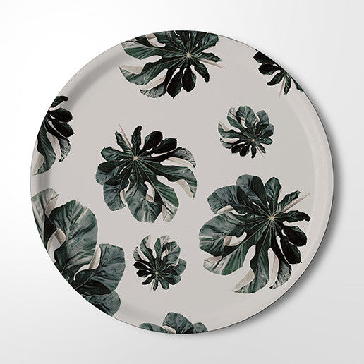 Serving Tray - Jungle Cecropia (white)