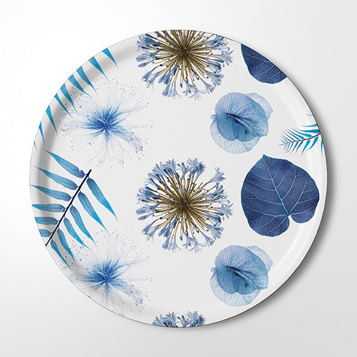 Serving Tray - Botanical Blue