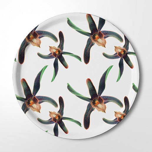 Serving Tray - Orchid Party (white)