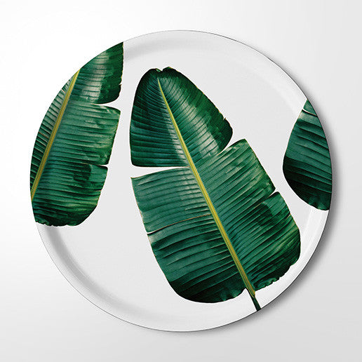 Serving Tray - Wild Strelitzia - (white)