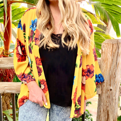 Sunny Days Floral Cardigan