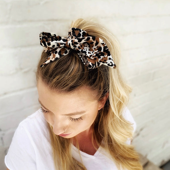Can't Be Tamed Leopard Hair Scarf