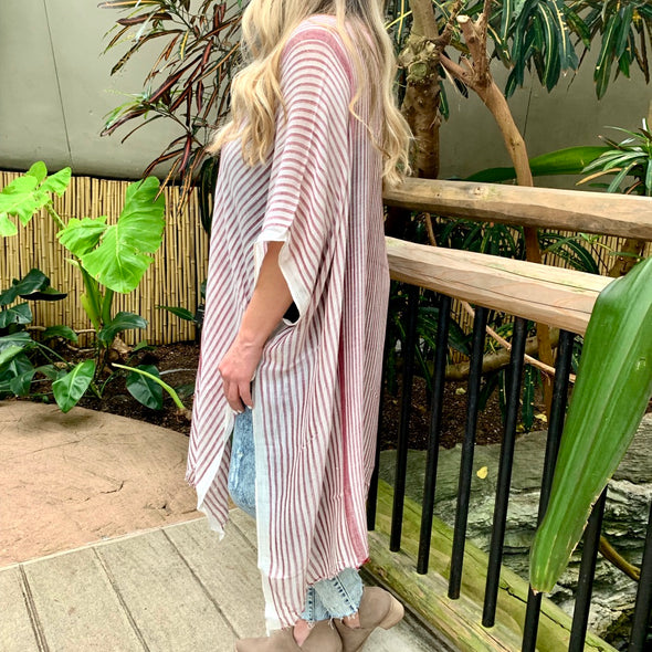 Pink Paradise Striped Cardigan