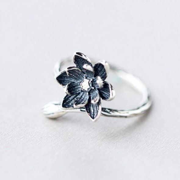 Live Wild Flower Child Sterling Silver Ring