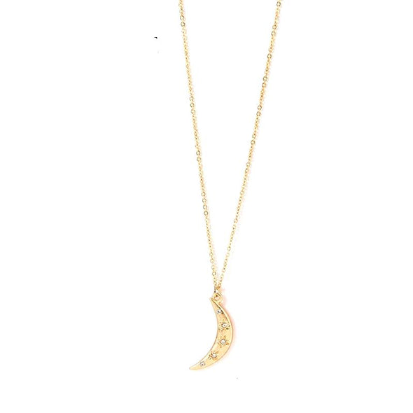 New Moon Gold Necklace