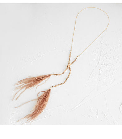 Zella Feather Necklace