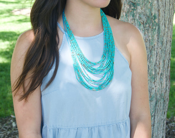 Turquoise Dreams Layered Necklace