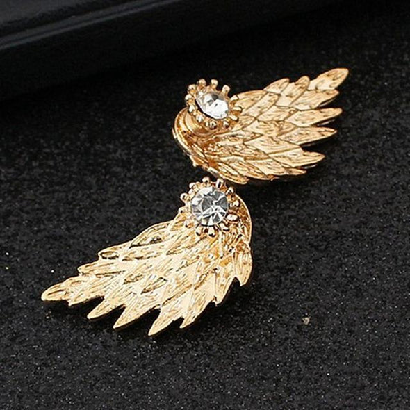 With Brave Wings She Flies Earrings