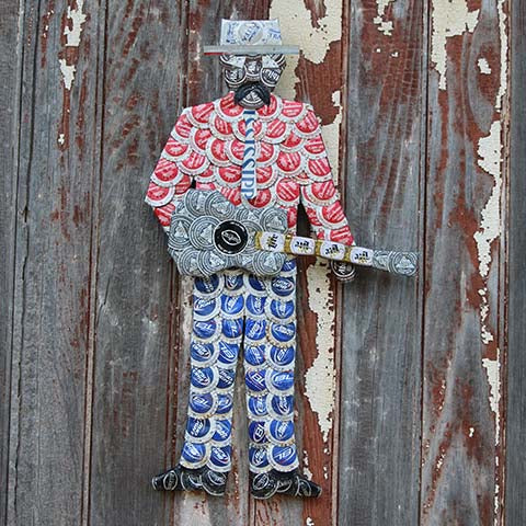 Bottlecap Artwork -- Bluesman