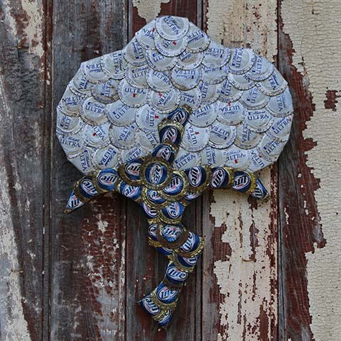 Bottlecap Artwork -- Cotton Boll
