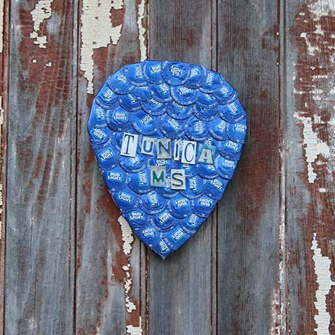 Bottlecap Artwork -- Guitar Pick
