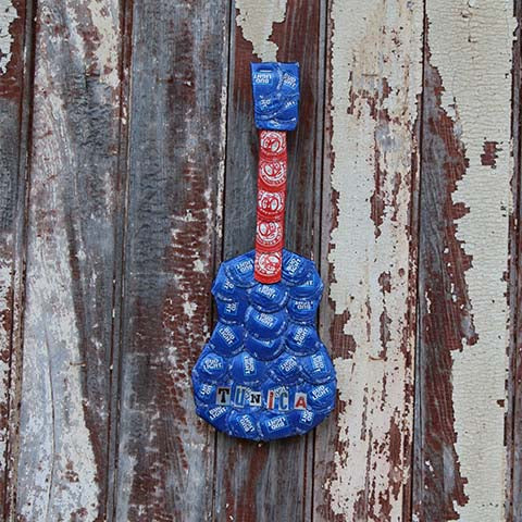 Bottlecap Artwork -- Guitar