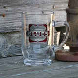 Gateway to the Blues Clear Coffee Mug with Pewter Logo