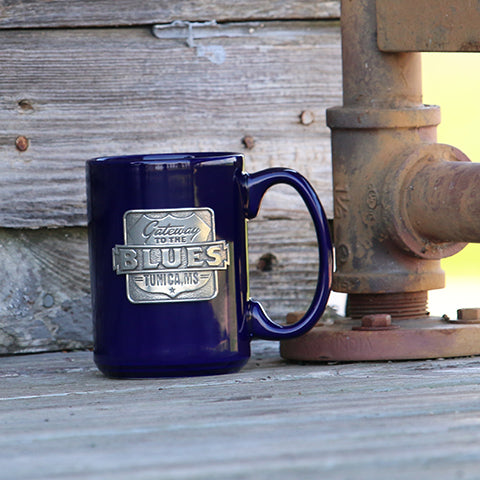 Gateway to the Blues Cobalt Coffee Mug with Pewter Logo