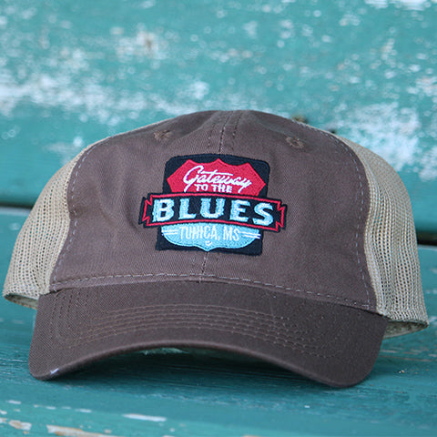 Gateway to the Blues Trucker Hat-Brown