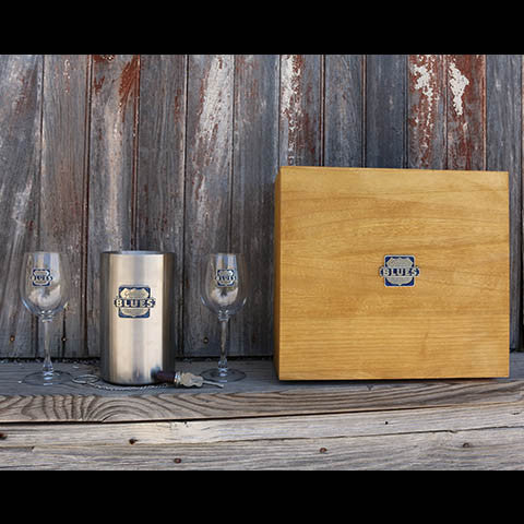 Gateway to the Blues Pewter Wine Gift Set