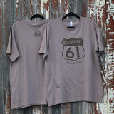 Gateway to the Blues Highway 61 Distressed Sign T-Shirt