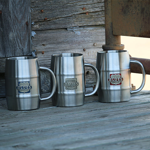 Gateway to the Blues Pewter Logo Keg Mug