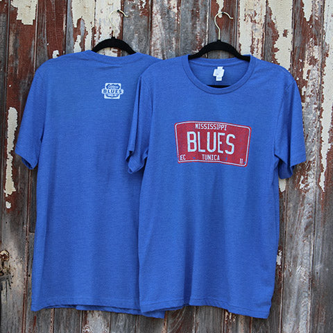 Gateway to the Blues Mississippi Blues License Plate T-Shirt
