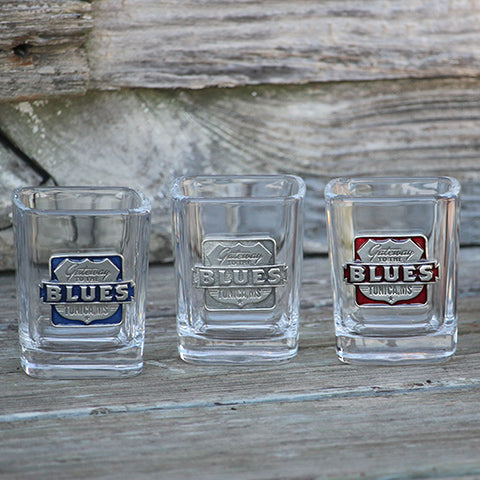 Gateway to the Blues Pewter Logo Square Shot Glass