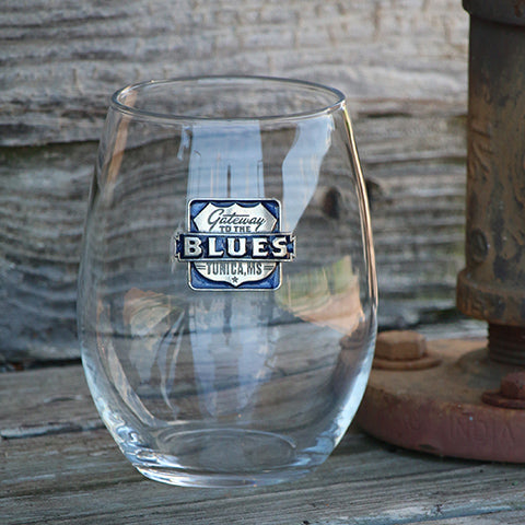 Gateway to the Blues Pewter Logo Stemless Goblet