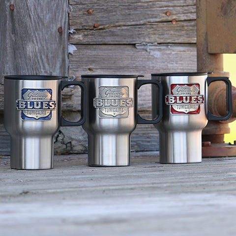 Gateway to the Blues Travel Mug with Pewter Logo