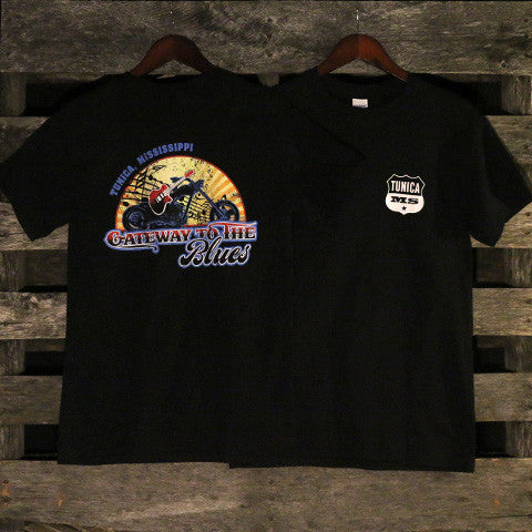 Gateway to the Blues Motorcycle Logo T-Shirt