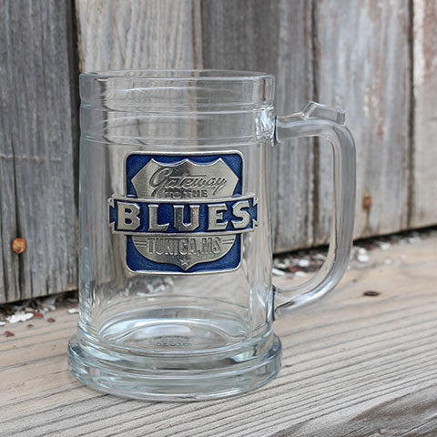 Gateway to the Blues Pewter Logo Beer Stein - Blue