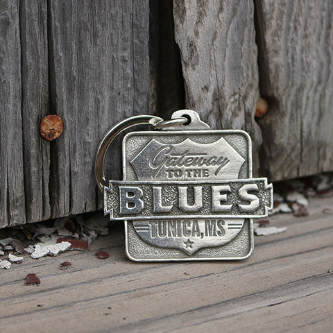 Gateway to the Blues Pewter Logo Key Chain