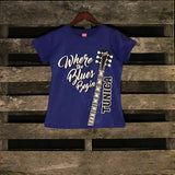 Tunica Where the Blues Begins Ladies T-Shirt
