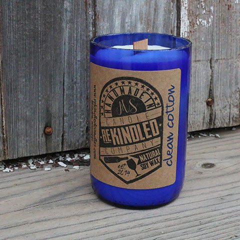 Mississippi Made Rekindled Candles -- Clean Cotton