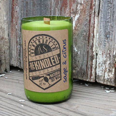 Mississippi Made Rekindled Candles -- Sage-Citrus